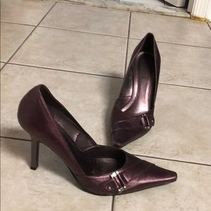 BCBG metallic purple stilettos
